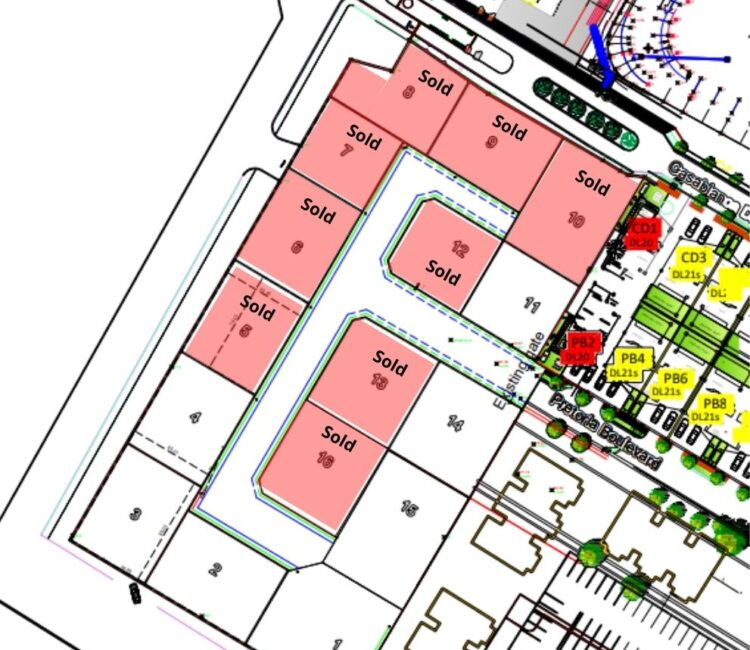 Serviced Plots layout