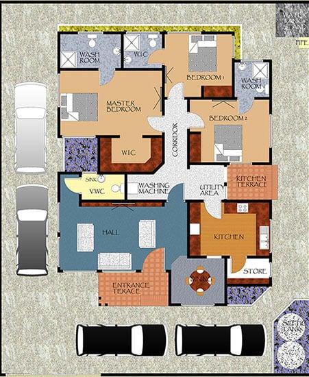 Sunset court floor plan